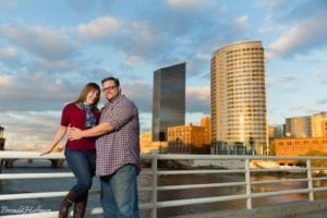 Grand Rapids Engagement Photographer blue bridge mi