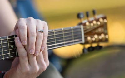 Grand Haven Central Park Engagement – With a Guitar!
