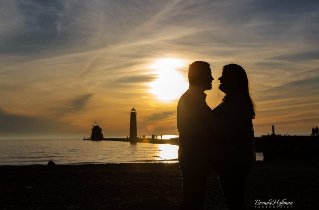 Grand Haven Beach Engagement – J & G