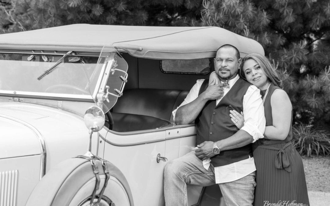Grand Rapids Engagement – Antique Cadillac – M & K