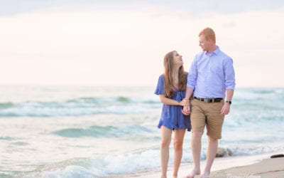 Beach Sunset Engagement Session