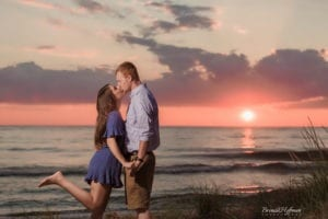 Beach Sunset Engagement Session 13 of 14