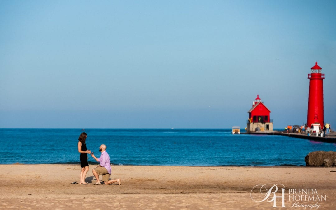 Beach Proposal – Grand Haven Michigan
