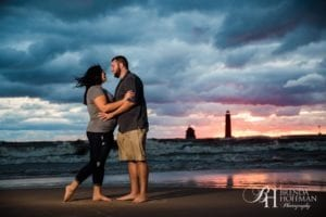 Grand Haven MI Central Park Beach Engagement 10