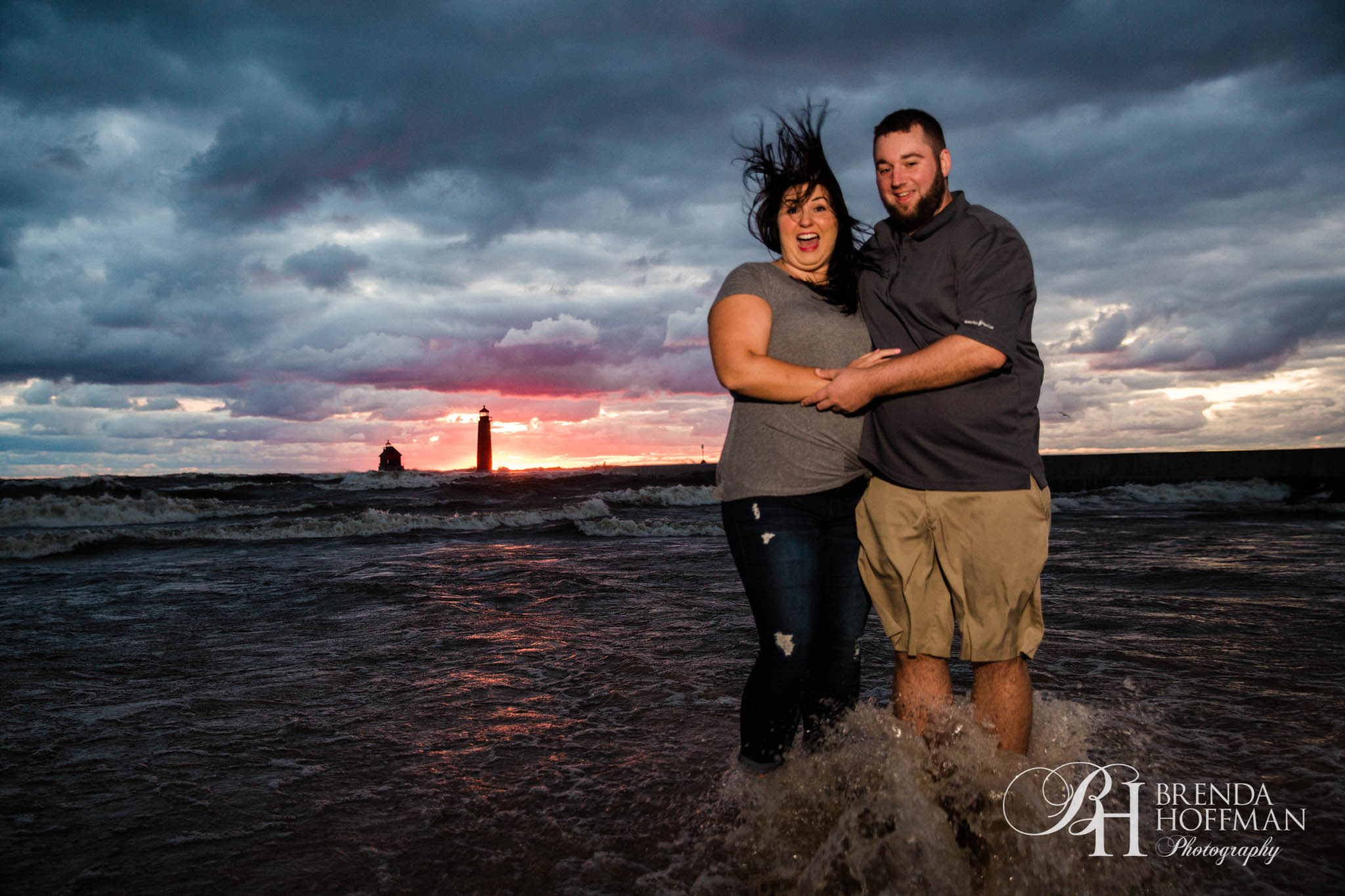 Grand Haven MI Central Park Beach Engagement 12