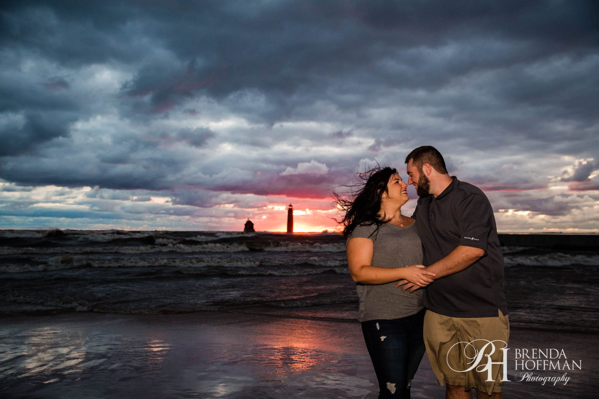 Grand Haven MI Central Park Beach Engagement 13
