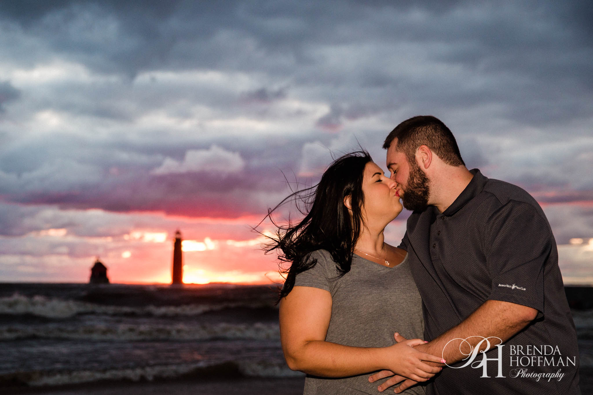 Grand Haven MI Central Park Beach Engagement 14