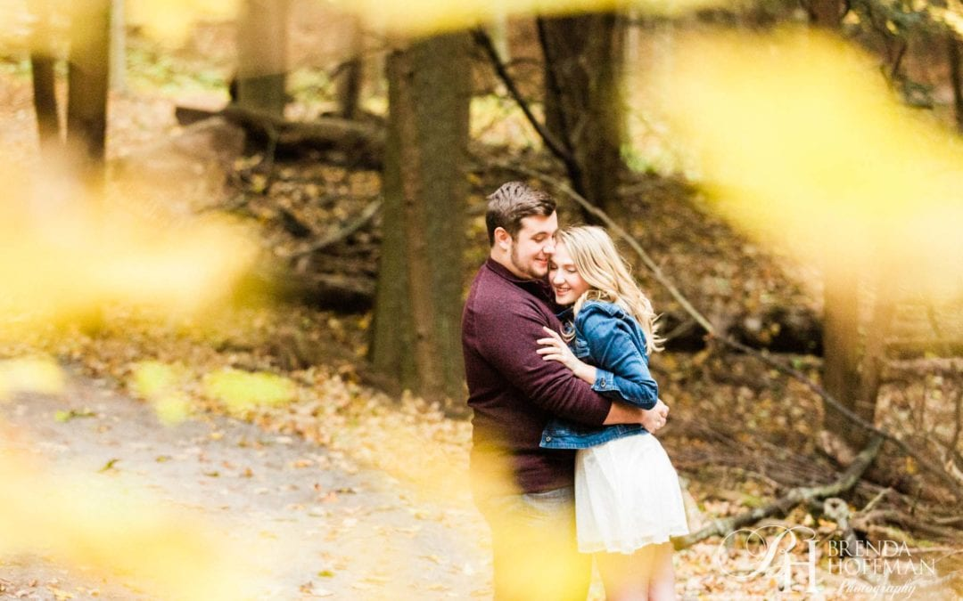 Fall Engagement Session | Hoffmaster State Park