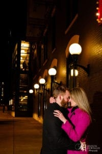 Downtown Grand Rapids Night Engagement Sparklers 9