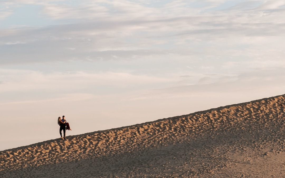 Silver Lake Sand Dunes Engagement | Silver Lake, MI