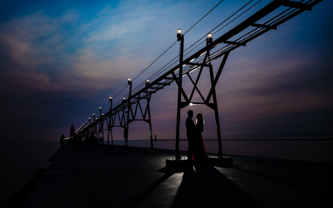 Grand Haven Lighthouse Engagement
